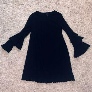 Big Girls Art Class Black Ruffled Swing Dress